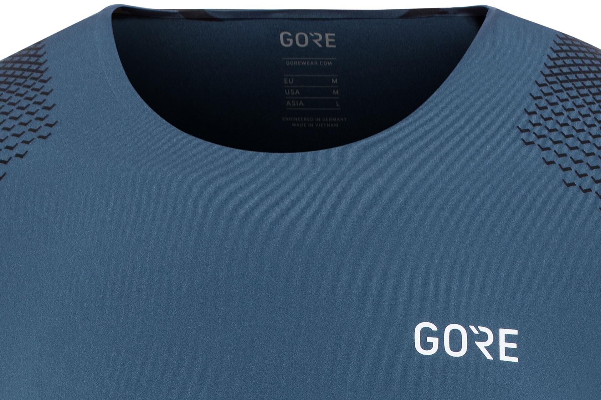 GORE WEAR R7 Maglietta Uomo, deep water blue/citrus green su Addnature Pi2Cb